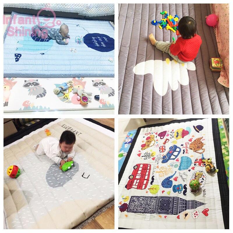 Tapis bébé tapis de jeu enfants tapis bébé Playmate 140X195X3CM tapis lavables en Machine pour salon anti-dérapant chambre 55X76 Inch - 6