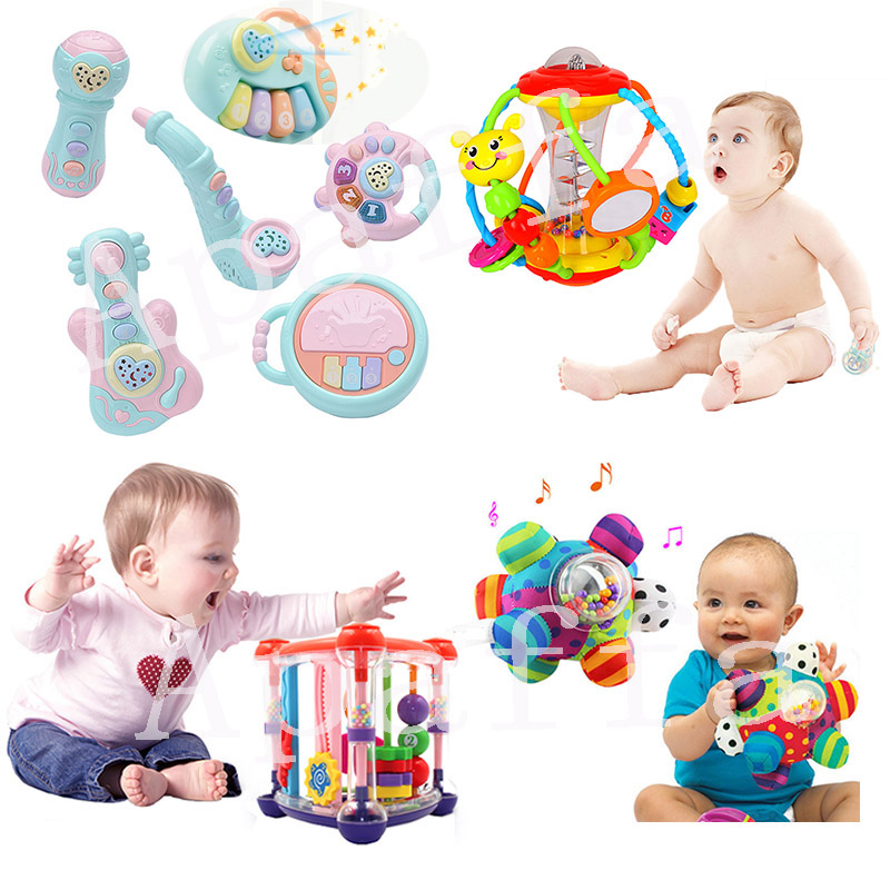 Baby Rattles Toys Newborn Hand Bells Baby Toys 0-12 Months Teething Safe Development Infant Early Educational Toys For Toddlers