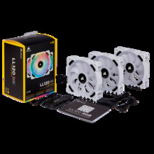 Corsair LL Series LL120 LL140 RGB Dual Light Loop RGB LED PWM Single Fan Pack 3 Fan Pack con nodo di illuminazione pro-white