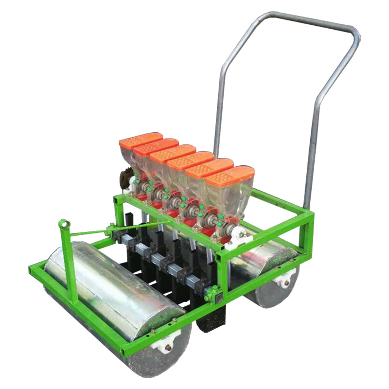 5 Lines Hand Push Vegetable Seeder Artificial Small Agricultural Seeder Cabbage Green Cabbage Parsley Spinach Rapeseed