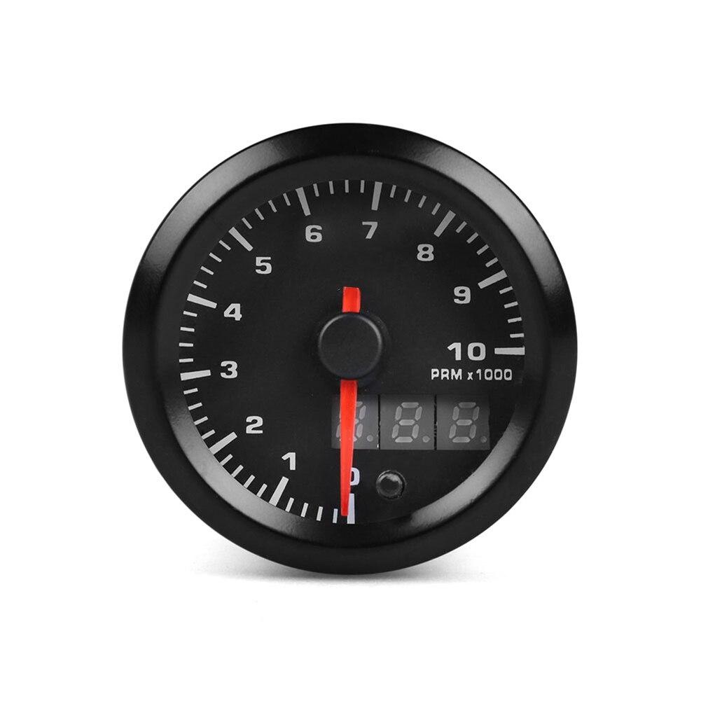 Nouveau tachymètre de voiture 3 chiffres affichage Modification automatique 12V 52mm pointeur compteur de vitesse universel