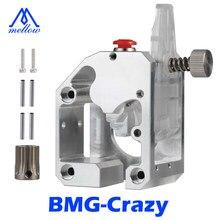 Mellow todo o metal cnc nf-bmg-crazy hotend dupla extrusora de acionamento de engrenagens para ender 3 5 pro cr10s rpo impressão tpu 3d peças de impressora