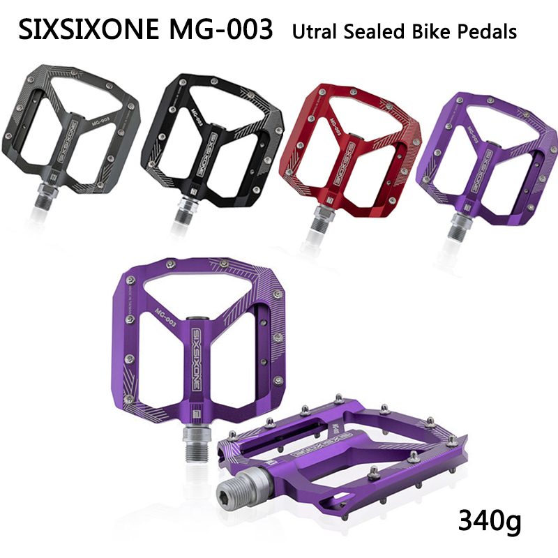 Magnesium MTB XC Road Mountain AM Bike Cycling Pedals flat Bicycle Pedal Purple