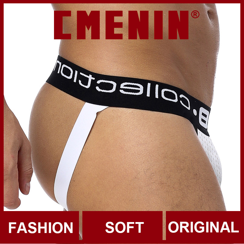 2020 CMENIN Fashion Letter Cotton Soft BS Gay Men Sexy Underwear Thong Men Jockstrap Man Thong Mens Thongs And G Strings U Pouch