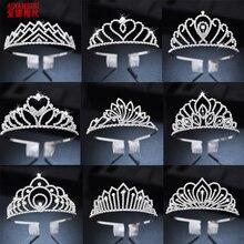 AINAMEISI Rhinestone Bridal Tiaras Headband Hair Accessories Crystal Crowns For Women Girls Flower Wedding Party Hair Jewelry