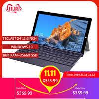 Teclast X4 2 in 1 Tablet PC Del Computer Portatile 11.6 'IPS Finestre 10 Celeron N4100 Quad Core 8GB di RAM SSD DA 256GB 5MP HDMI Tipo-C Con La Tastiera