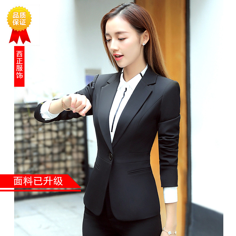 Business Suit Women's 2019 New Style Spring And Autumn Interview Formal Wear Suit Work Clothes Palo Workwear Suit WOMEN'S Dress