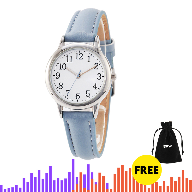 Arabic Numbers Lady ELegant Style Women Watch Candy Color Straps Leather Band Easy Reading Simple Dial Dropshipping