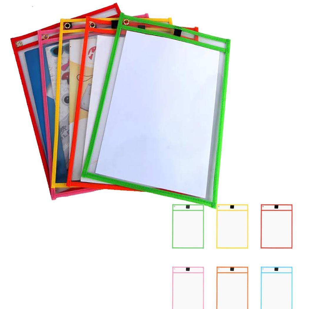 Reusable Erasable Pockets Transparent Drawing Board School Office Solid Supplies Random Square