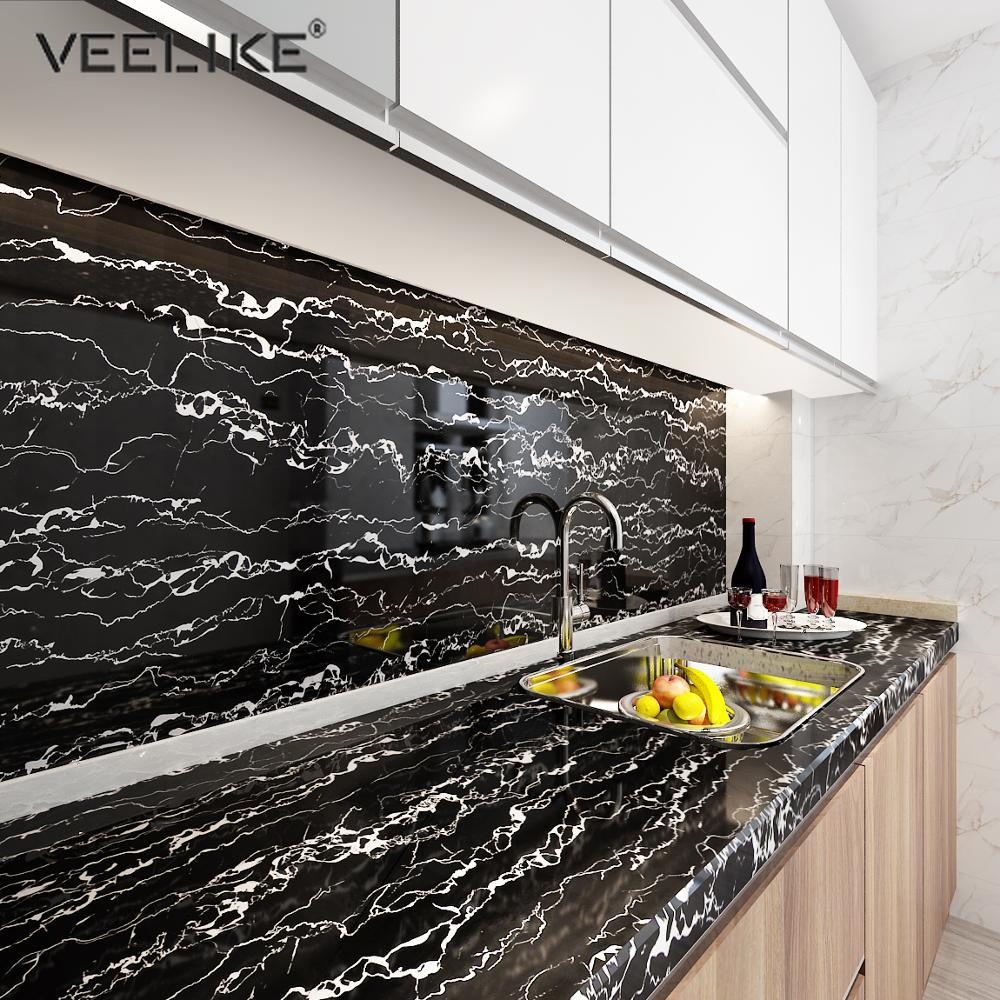 Marble Waterproof Contact Paper Vinyl Self Adhesive Wallpaper Decorative Film Kitchen Cabinet Countertop Furniture Table Sticker