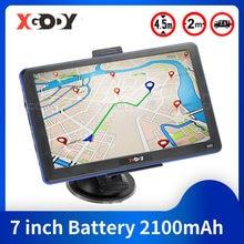 XGODY 886 7 zoll Lkw Auto GPS Navigation 256M + 8GB Touchscreen Navigator Navitel Bluetooth Sat Nav hände Frei 2020 Europa Karte