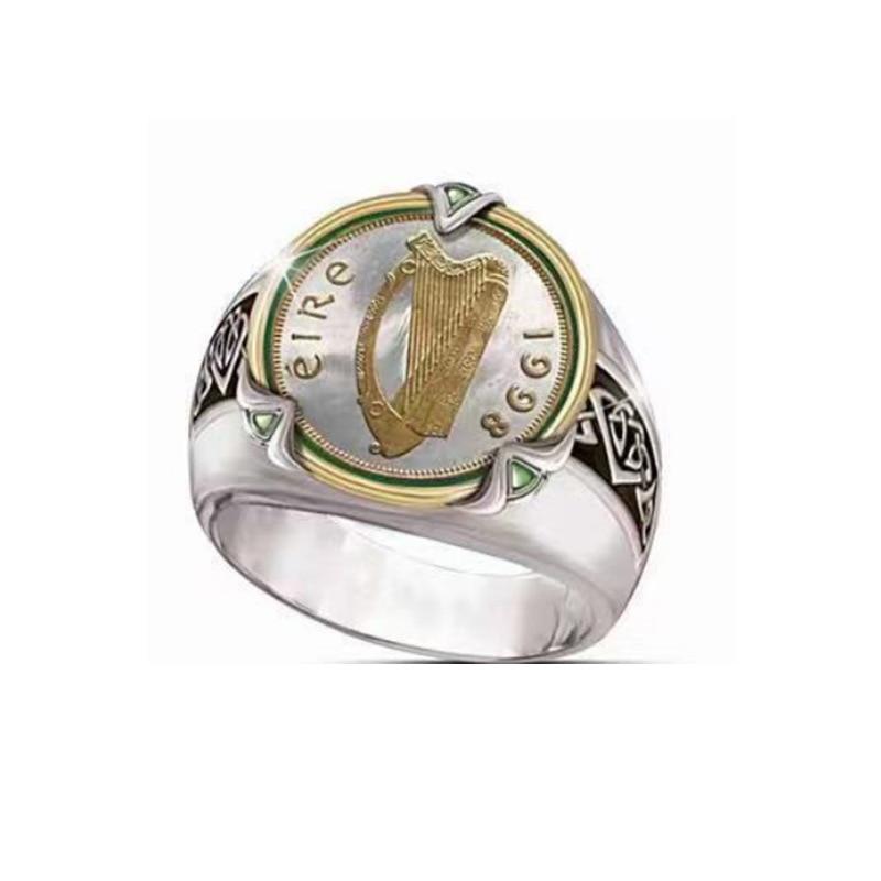Винтажные кольца-монеты из нержавеющей стали 1998, мотоциклетные, вечерние, в стиле стимпанк, ностальгия, юбилейное кольцо для мужчин, ювелирн...