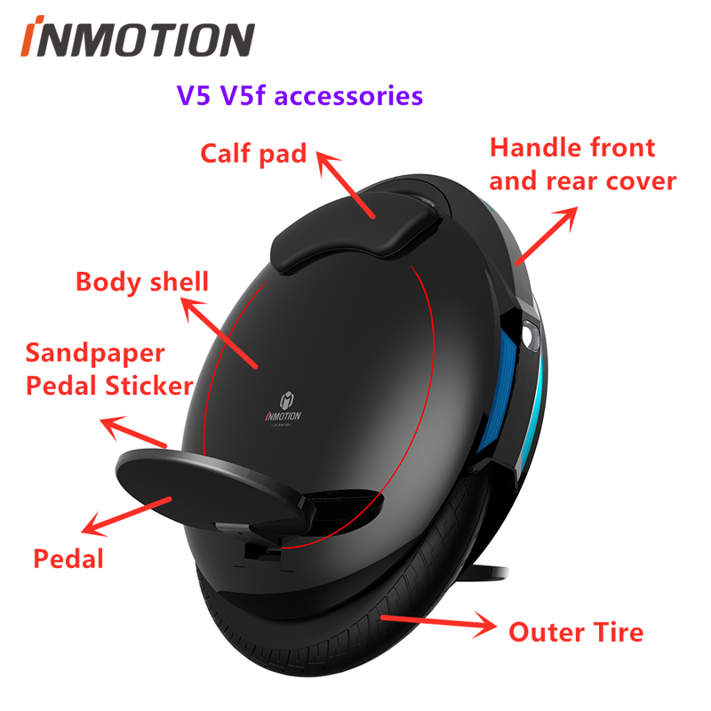 Original Inmotion V5 V5D V5F Parts Body Shell Protection Cover Pulling Handle Inner Outer Tires 84V Charger Unicycle Accessories