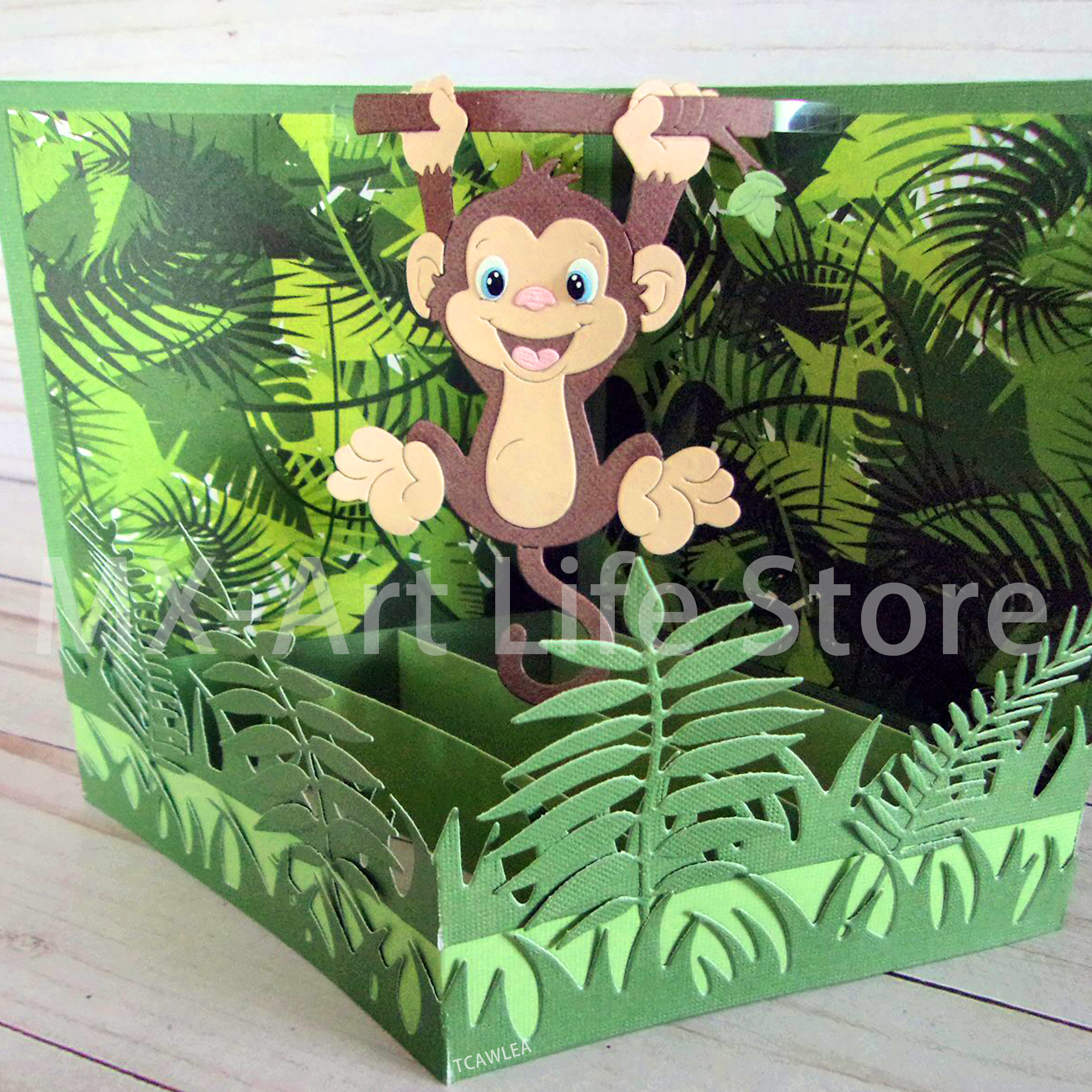 2020 Lovely Monkey Hanging From A Branch Metal Cutting Dies Animals Stencil For DIY Scrapbooking Card Decorative