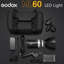 Godox – lumière de Studio Portable LED ML60, 60W, 5600K, pour photographie Portrait, avec écran LCD, CRI96 TLCI97, 16 groupes de 32 canaux
