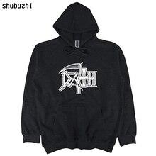 Толстовка с надписью «DEATH Logo», рок-группа, Повседневная Толстовка с капюшоном, shubuzhi, новинка, забавная толстовка с капюшоном, Мужская одежда, толстовка sbz4590