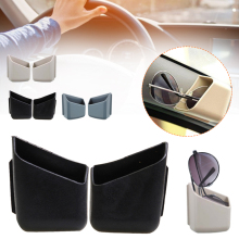 1 Pair Car Storage Box Double-Sided Adhesive Multifunction Interior Organizer Storage Bag for Glasses Cards Mobile Phone Holder
