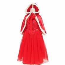 Детское платье для девочек красное элегантное нарядный костюм