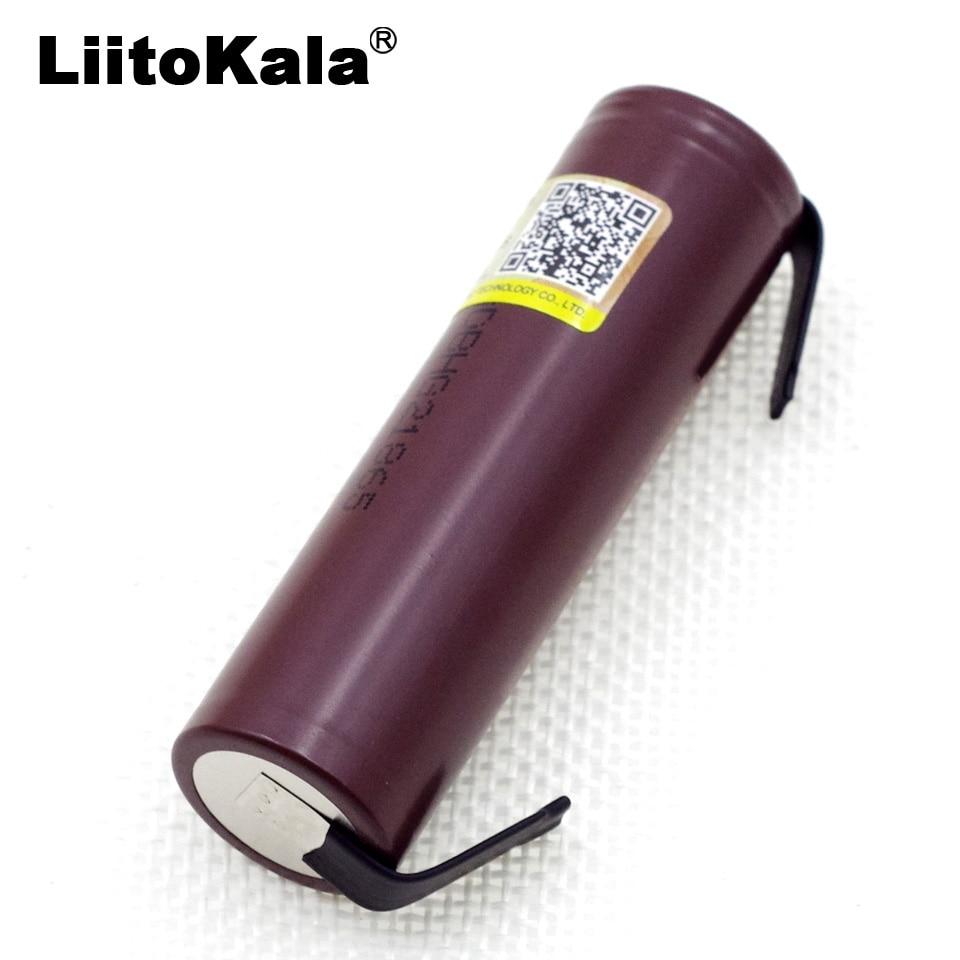 Liitokala novo hg2 18650 3000 mah bateria 18650hg2 3.6 v descarga 20a, dedicado para hg2 baterias + níquel diy