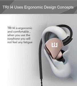 Image 5 - TRI I4 1BA + 1DD hybride dans loreille écouteurs en cours dexécution Sport technologie HIFI bouchon doreille avec 3.5mm MMCX écouteurs