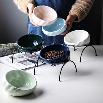 Pet Tableware Porcelain Dog Bowl Senior Pet Bowl Teddy Retriever Dog Bowl Size Spot Wholesale Universal Cat Small
