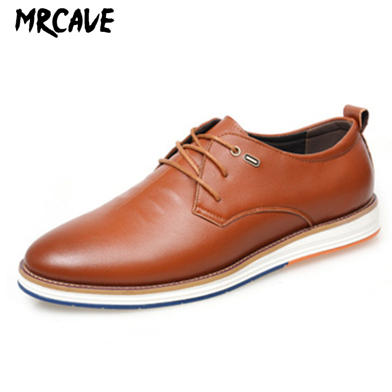 MRCAVE Men Casual Shoes Fashion Black Sneakers Men PU Leather Breathable Soft Walking Footwear Male 2019 Winter Work Shoes in Men 39 s Casual Shoes from Shoes