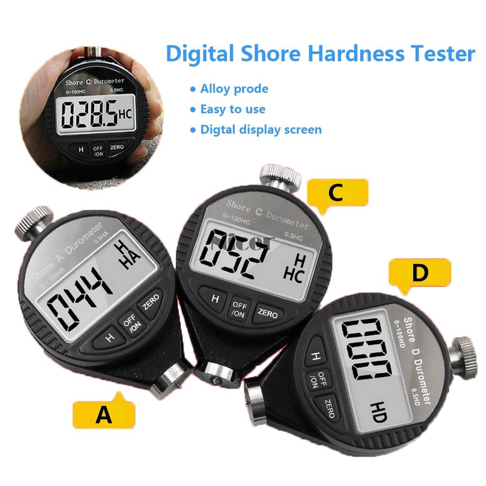 Digital Shore Hardness Tester Durometer Shore A/C/D Hardness Meter Shore 0-100 For Plastic Leather Rubber Multi-resin