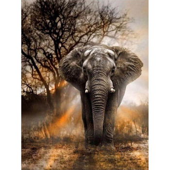 Full Square Drill 5D DIY Diamond Painting Cross Stitch Elephant 3D Diamond Embroidery animal mosaic Rhinestones picture M931 image