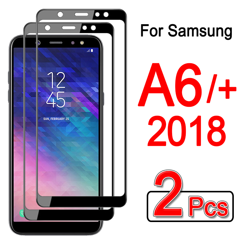 2pcs Tempered Glass For Samsung Galaxy A6 Plus 2018 Screen Protector For Samsung A 6 Plus 6plus A6plus 2018 Protective Glas Film
