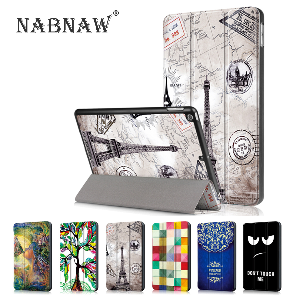 Painting Tablet Holder Stand Flip Case For Huawei MediaPad T5 10.1
