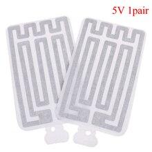 Heater Usb-Gloves Calefaccion Pad 2pcs 8--13cm Guantes Cloth Luva Carbon-Fiber Electric