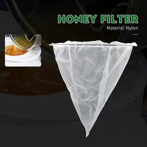 Brand White Nylon 1PCS Honey Filter Single Layer Durable Cone Shape Net Beekeeping Tools Honey Strainer Filter Apiary Equipment(China)