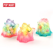 POPMART 1PC YUKI Transparante Serie Blind Doos Pop Binary Action Figure Verjaardagscadeau Kid Speelgoed gratis verzending(China)