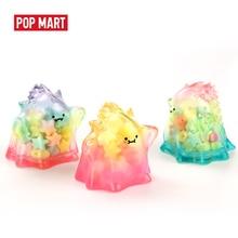 цена на POPMART YUKI Transparent Series Blind Box Doll Binary Action Figure Birthday Gift Kid Toy free shipping