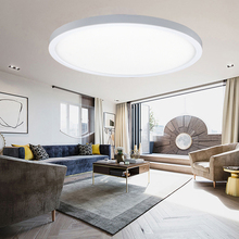 цена 9W 18W 24W Modern Bright LED Round Panel Light down light Surface Mounted led ceiling light AC 85-265V lampada led lamp 1cm-thin онлайн в 2017 году