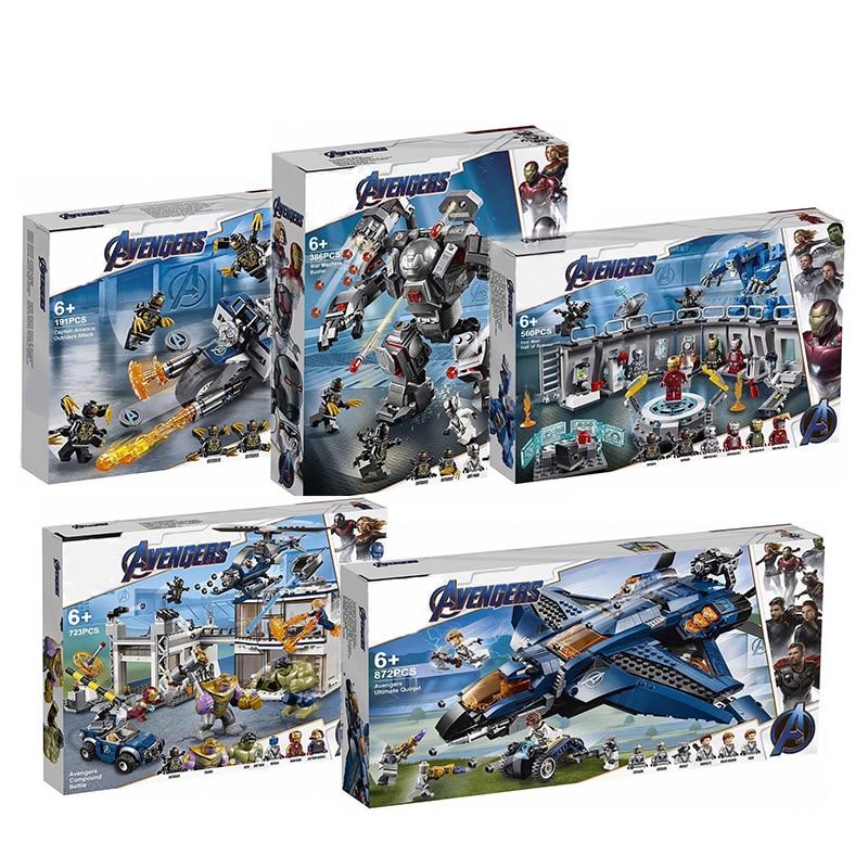 2019 Avengers 4 Endgame Ultimate Quinjet Set Legoings 76107 76108 76123 76125 76126 76131 Building Blocks Brick Toys-in Blocks from Toys & Hobbies