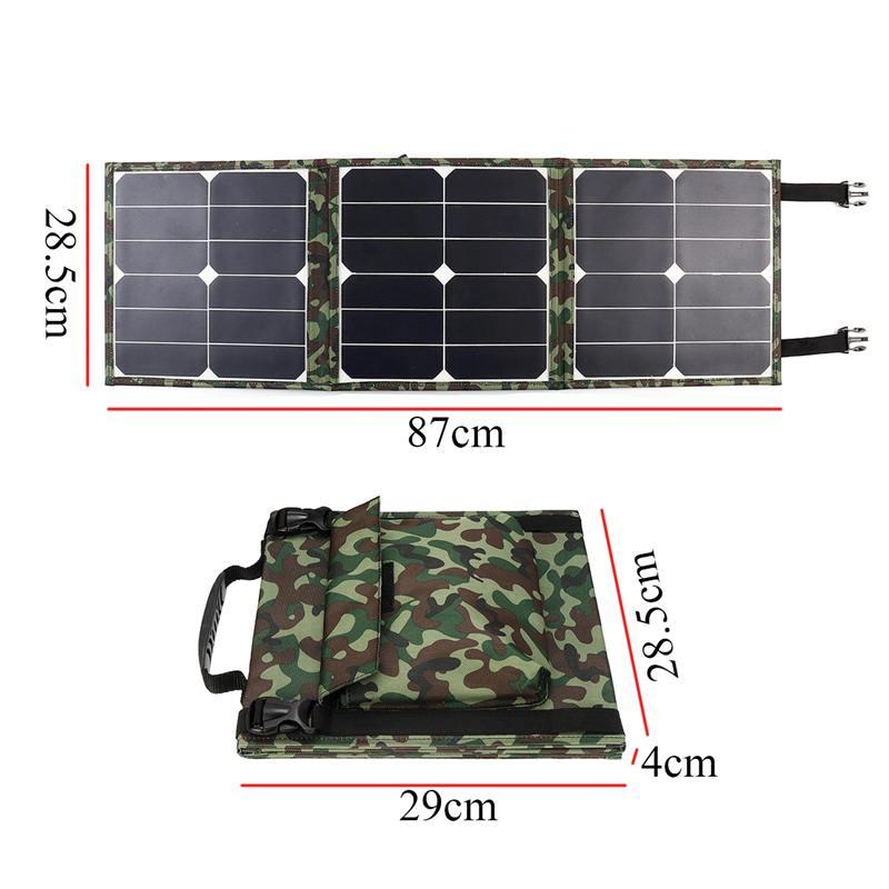 100w dobravel painel solar saco banco de 04