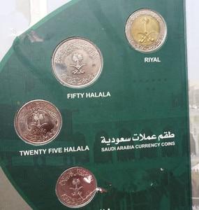 Image 2 - Arabia Saudita 5pcs monete moneta originale con libri Con Copertina Rigida di raccolta regalo presente