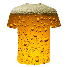 Sale Funny T Shirts Summer 2019 Men's Clothing Brand O-neck Clock Jacket Beer Short-sleeved 3d T Shirt Digital Printing T-shirt цена