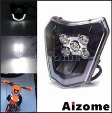 Schmutz Motorrad LED Kopf Licht Enduro Scheinwerfer Hohe Abblendlicht Motocross Scheinwerfer Für EXC EXC F 300 350 450 500 sechs Tage XC W 250