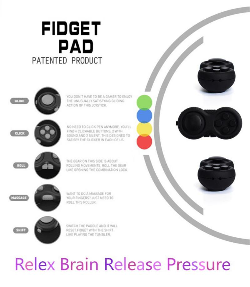 Toys Desk Puzzles Game Fidget-Pad-Stress Relief-Pressure-Toy Rainbow Magic 1PCS Toy-Handle img5