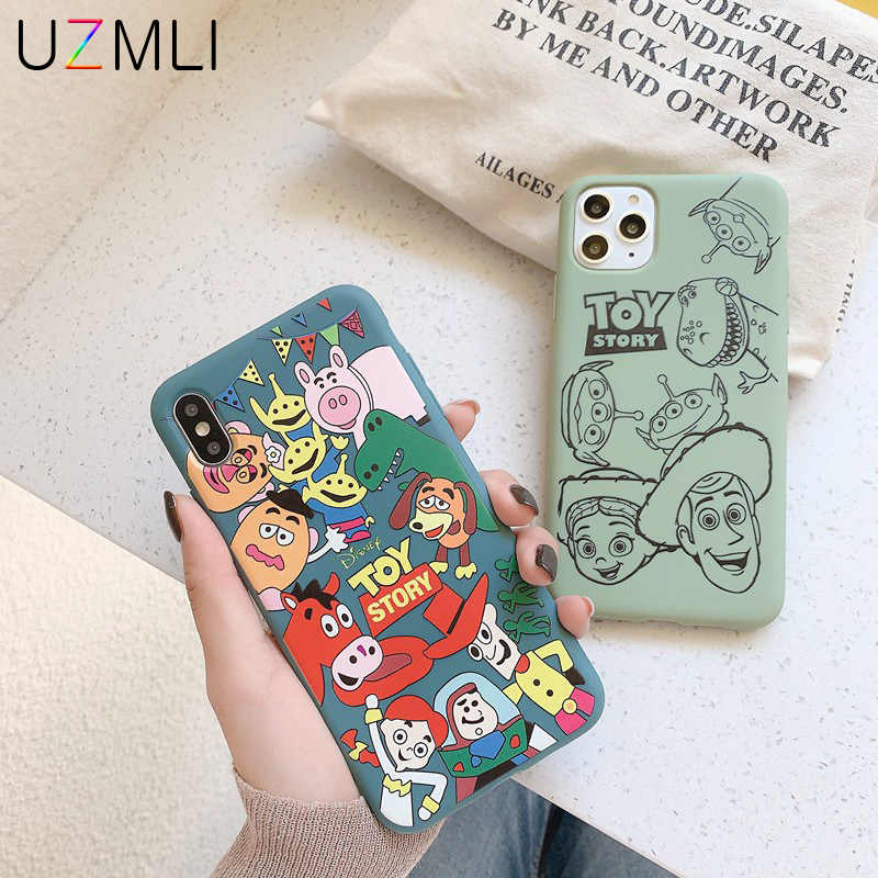 Cartoon Cute <font><b>Toy</b></font> <font><b>Story</b></font> Family Soft TPU Case For <font><b>iPhone</b></font> 11 Pro Max X <font><b>XR</b></font> XS 8 7 6 6S Plus Anti-knock Matte Silicone Cover <font><b>Coque</b></font> image