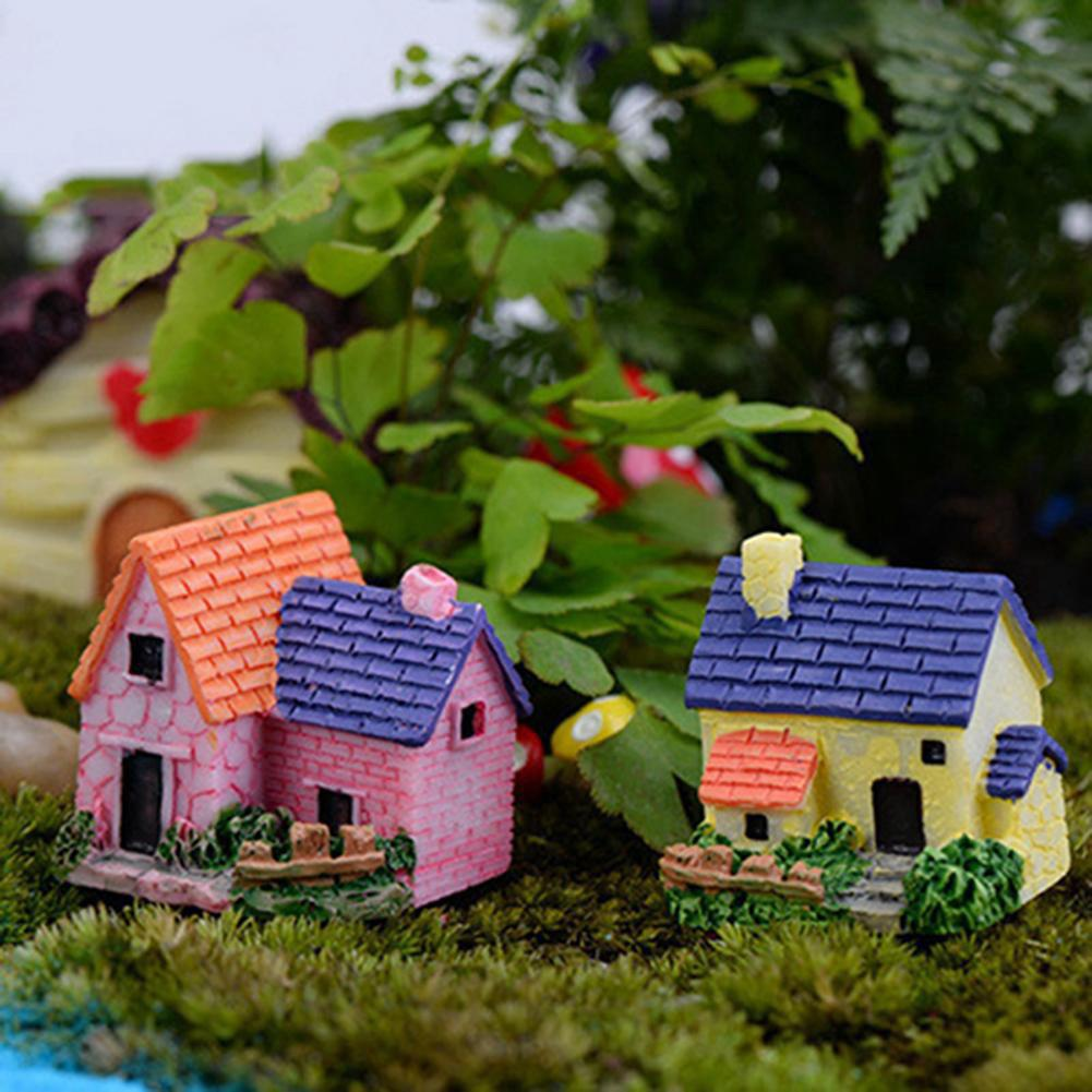 Fairy Garden Miniature Resin House Villa Micro Landscape Bonsai Ornament Decor