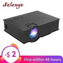 Мини видеопроектор Salange UC46, 800x480dpi, 1200 люмен, светодиодный Проекторы для домашнего кинотеатра, Wi Fi, поддержка Miracast/Airplay, проектор мини Full HD поддержанный
