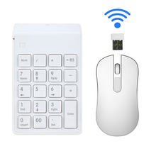24g wireless digital keyboard mouse set mini finance laptop