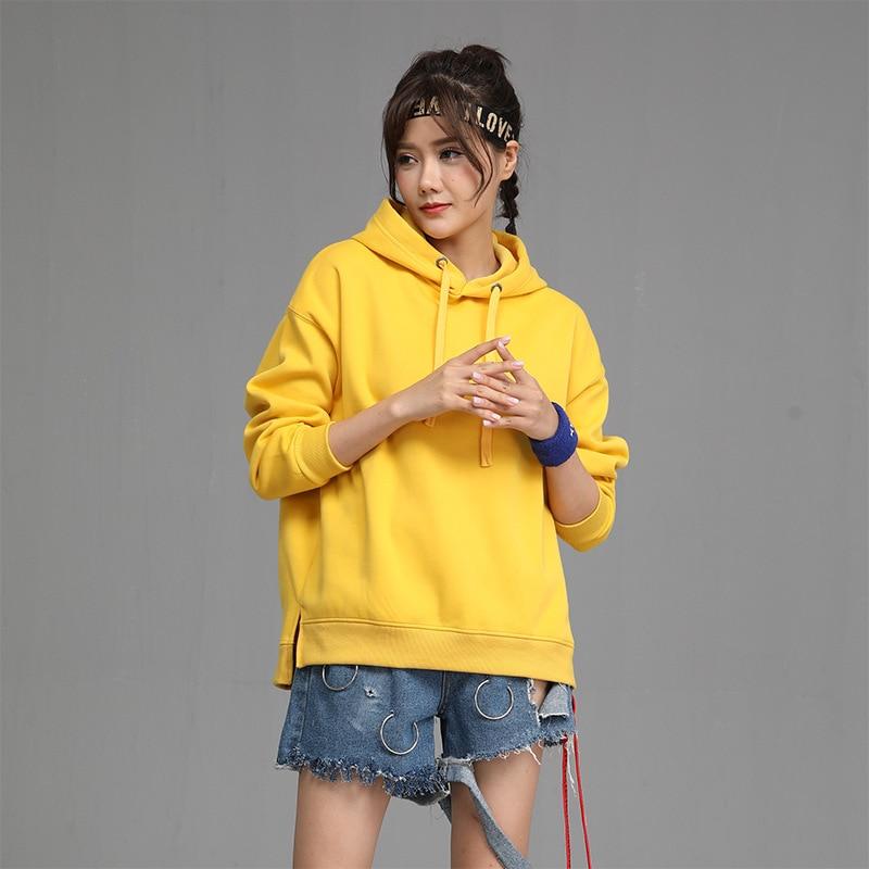 2020 New Hot Sale Ladies Hoodies for Women Fleece Female Winter Solid Colour Casual Sweatshirt 1