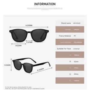 Image 4 - AEVOGUE New Women Retro Outdoor Polarized Sunglasses Transparent Korean Round Fashion Driving Sun Glasses Unisex UV400 AE0850