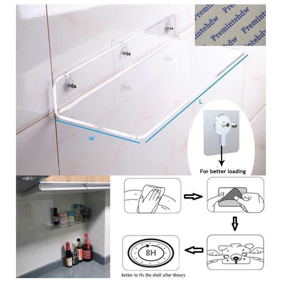 Clear Acrylic Floating Shelf Shelves