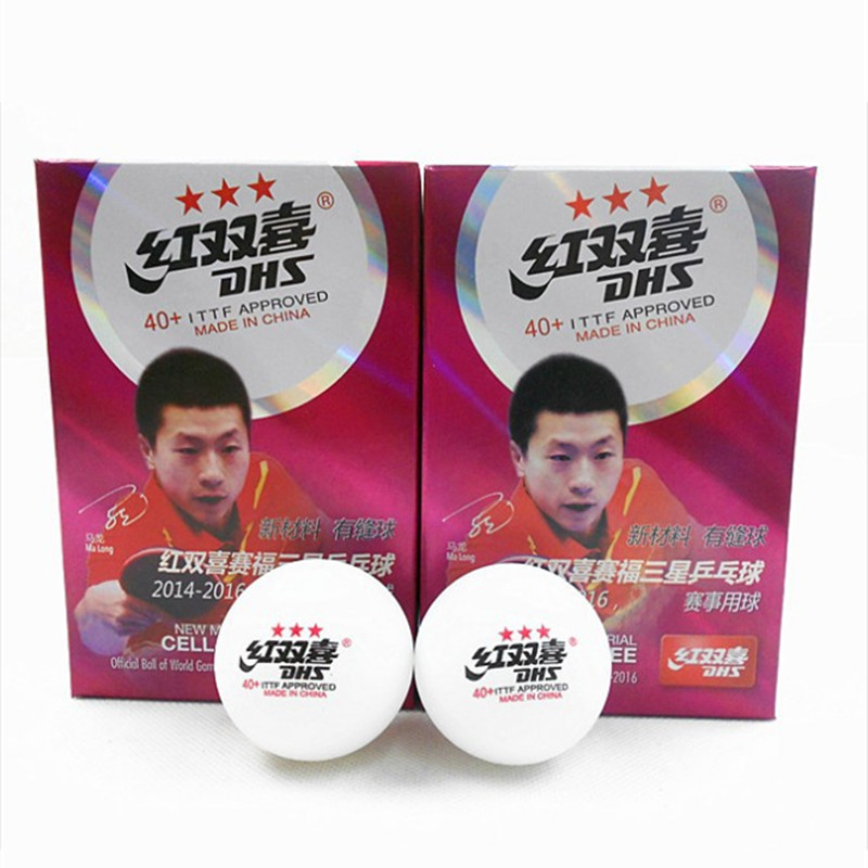 6pcs/Box Top Brand Quality New Material Table Tennis Ball With Seam 40+ Acetate Fiber Ping Pong Balls Official Table Tennis Ball
