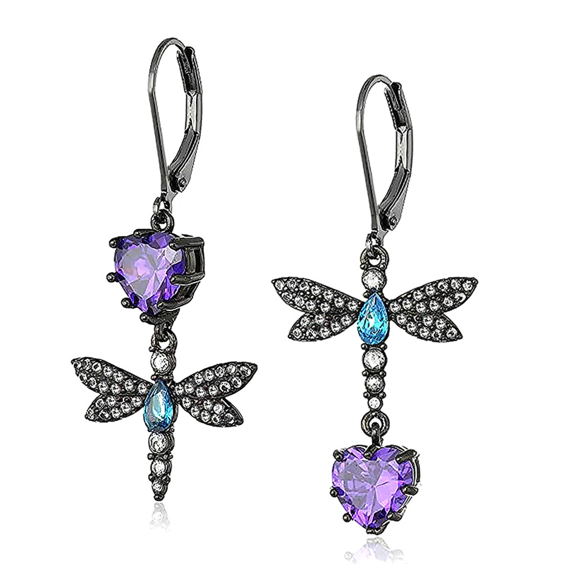 Huitan Dragonfly Shape Vintage Earrings Ethnic Tribal Antique Cute Accessories for Party Women Fashion Drop Earring Dropshipping